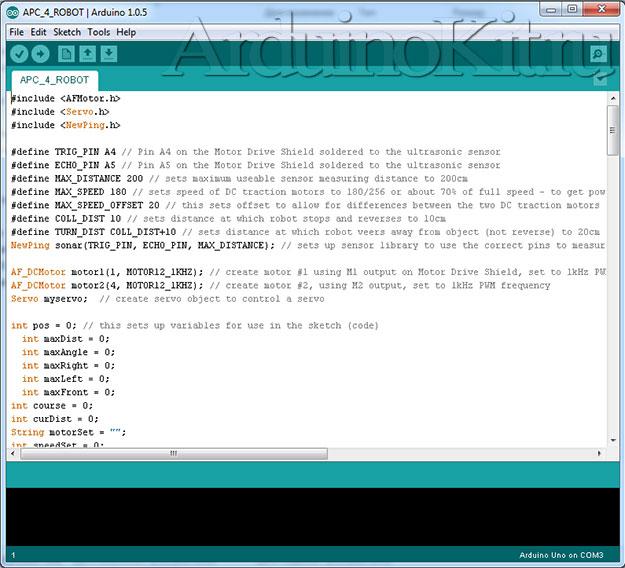 Вид среды программирования. Программа Arduino-IDE