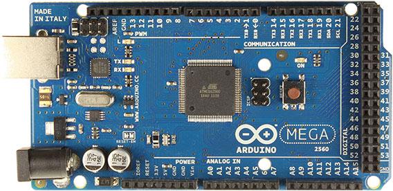 Вид платы Arduino Mega - Atmega2560