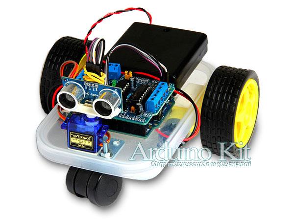 Трёхколёсный мини робот на Arduino UNO. Microrobot