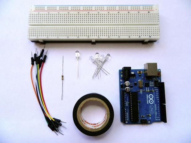 Необходимый комплект элементов для изготовления простой ИК-датчик приближения на Arduino