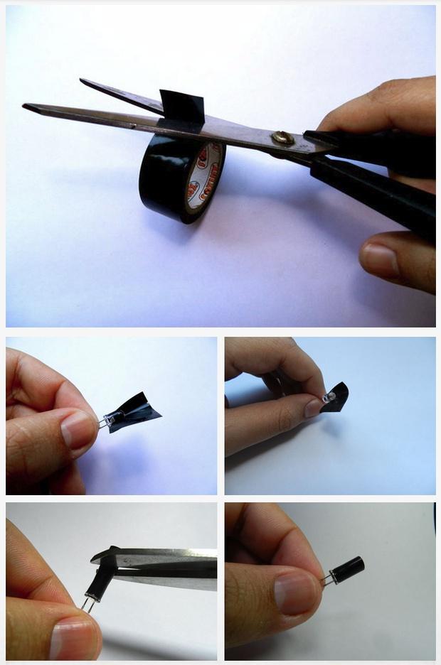 На рисунке показано как защитить боковые стороны ик-датчика от воздействия ИК лучей