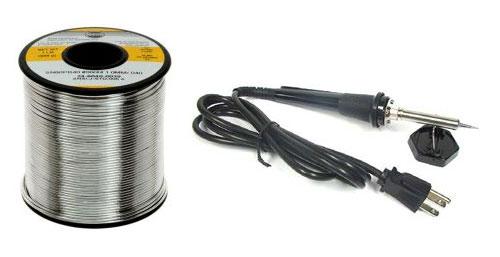 Паяльник и бабина припоя (soldering)