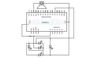 circuit ir sensor - arduino project