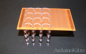 horizontal-row prototipe board