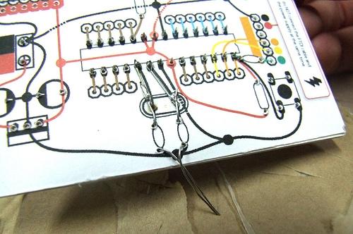 Рис. Папердуино (PAPERduino) вид снизу. Arduino на картоне