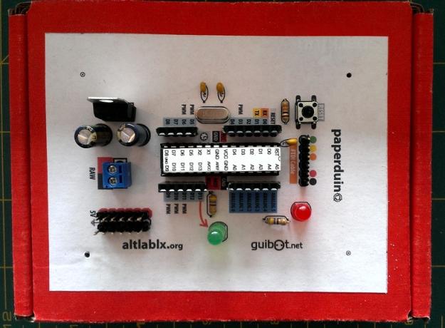 Рис. Папердуино (PAPERduino). Arduino на картоне