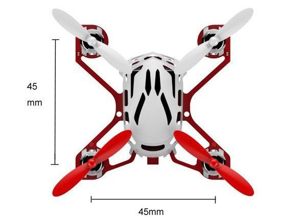 Размеры квадракоптера Estes Proto X - white