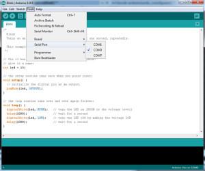 Arduino IDE правильно указывайте порт соединения