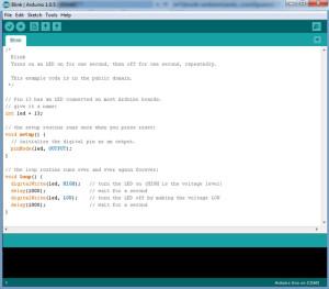 Arduino IDE - со скетчем Урока №1