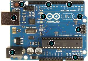 Элементы управления Arduino UNO