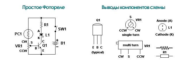 simple photoelectric (простое фотореле)