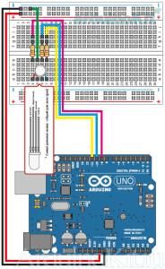Arduino. Урок 3. Управление трехцветным светодиодом - Cхемма соединений