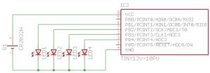 Схема рождественского светильника (гирлянды) - микроконтроллер ATtiny13