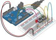 Собранный проект к уроку №5. Arduino и кнопки. Код программы
