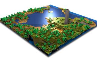 Карта схема фантастических земель сервера Minecraft