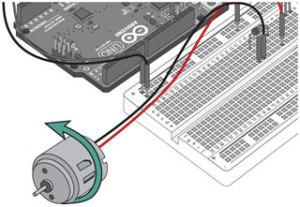Миниатюра к уроку №12. Arduino и Электродвигатель. Принципиальная схема и код программы