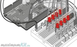 Миниатюра к уроку №14. Arduino и Регистр Сдвига. Ключ на корпусе микросхемы
