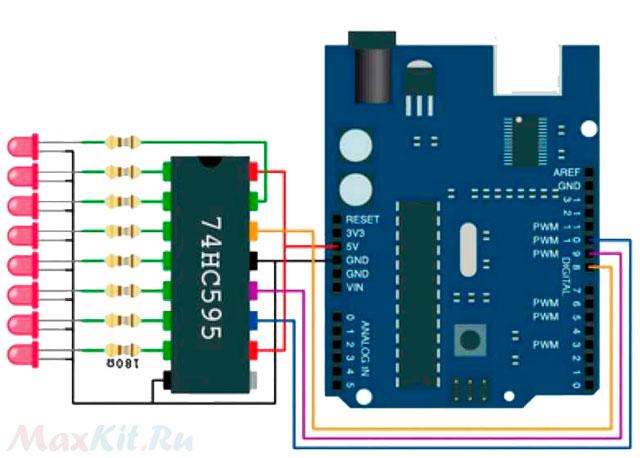 Урок 14. Arduino и Регистр Сдвига