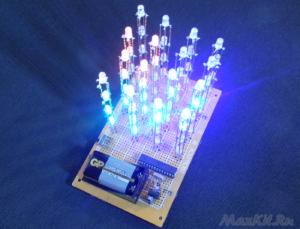 КУБ 4х4х4 ИЗ RGB СВЕТОДИОДОВ. Проекты Arduino