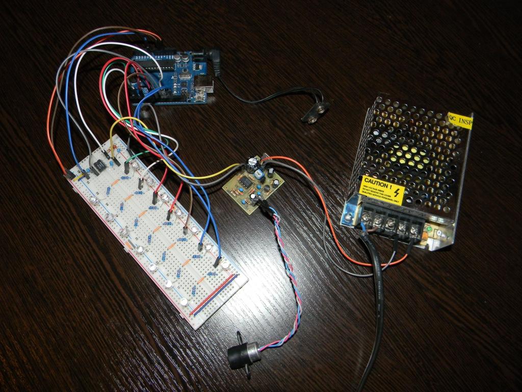 Цветомузыка семь каналов на Arduino