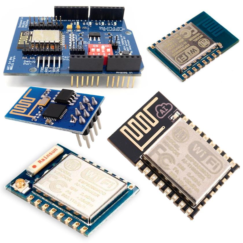 Вид различных модулей семейства ESP 8266