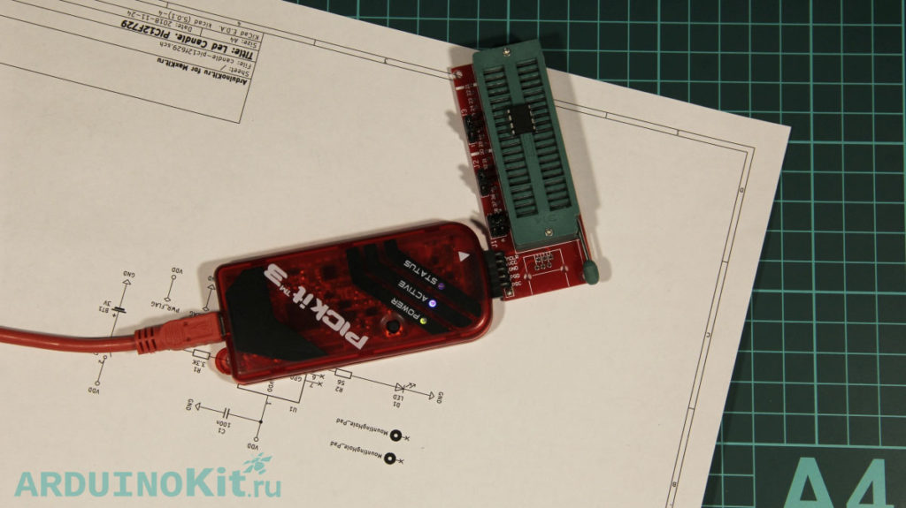 Firmware microcontroller programmer PicKit