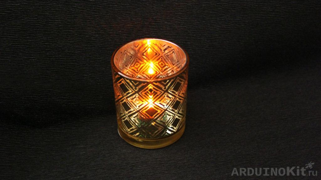 Имитатор горения свечи на PIC12F629